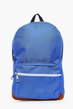 boohoo Suedette Panel Backpack