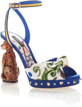 Dolce & Gabbana Crepe Sandals
