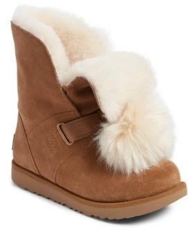 UGG Girl's Isley Genuine Shearling Waterproof Pom Boot