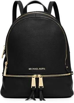 MICHAEL Michael Kors Rhea Zip Small Backpack - BLACK - STYLE