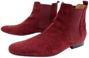Hermes Red Suede Boots