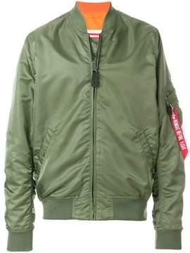 Alpha Industries Men's Green Polyamide Outerwear Jacket.