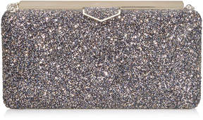 Jimmy Choo ELLIPSE Twilight Glitzy Glitter Fabric Clutch Bag