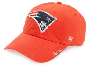 '47 Women's New England Patriots Sparkle Cap - Red