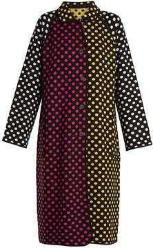 DAY Birger et Mikkelsen DURO OLOWU Reversible polka-dot intarsia-knit wool coat