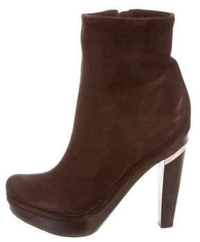 Diane von Furstenberg Platform Suede Ankle Boots