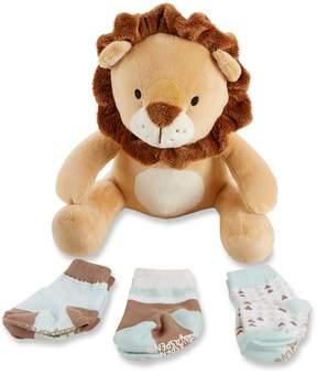 Baby Aspen Ryan the Lion Plus Plush Socks Set