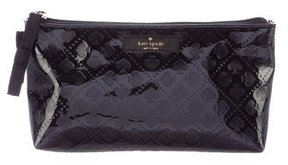Kate Spade New York Spade Embossed Leather Cosmetic Bag