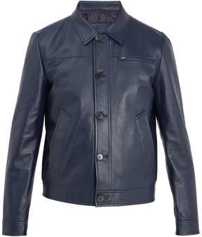 Prada Point-collar leather jacket