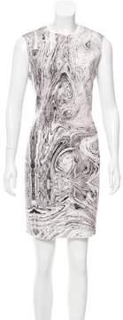 Carmen Marc Valvo Sleeveless Printed Dress w/ Tags