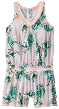 Seafolly Hawaiian Rose Fringing Jumpsuit Cover-Up Girl's Swimsuits One Piece