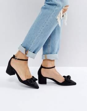 New Look Bow Detail Block Heel Shoe