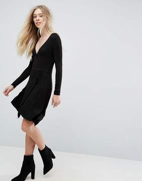 Brave Soul Wrap Jersey Dress