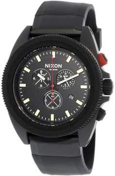 Nixon Men's Rover Chrono A290760 Black Silicone Japanese Quartz Sport Watch