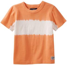 Osh Kosh Oshkosh Bgosh Toddler Boy Orange Striped Tie-Dyed Tee