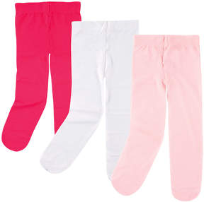 Luvable Friends Dark Pink, Light Pink & White Tights - Set of Three