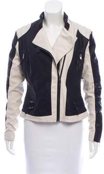 Blank NYC Faux Leather Two-Tone Jacket w/ Tags