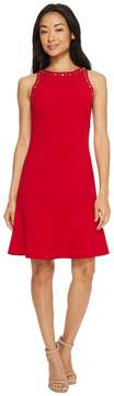 Ellen Tracy Sleeveless Flounce Hem Dress Women's Dress