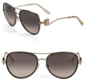 Roberto Cavalli 58MM Aviator Sunglasses