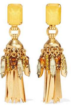 Elizabeth Cole Gold-Plated Crystal Earrings