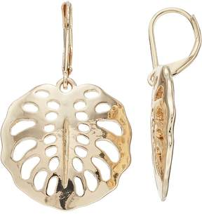 Dana Buchman Openwork Shell Drop Earrings