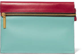 Victoria Beckham - Small Two-tone Leather Pouch - Light blue