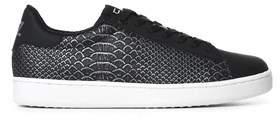 Emporio Armani Men's Black Polyurethane Sneakers.