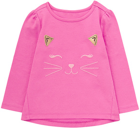 Gymboree Pink Cat Face Graphic Tee - Infant & Toddler