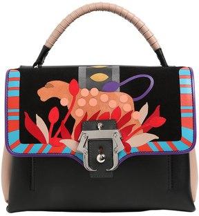 Petit Faye Intarsia Leather Bag
