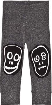 Nununu Charcoal Skull Mask Patch Leggings