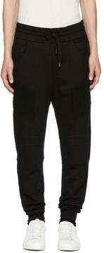 Pierre Balmain Black Classic Biker Lounge Pants