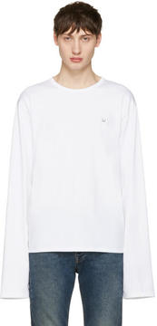 Acne Studios White Fello Face T-Shirt