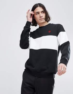 Converse Cons Crew Neck Sweatshirt In Black 10005686-A03