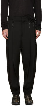 Haider Ackermann Black Topstitched Orbai Trousers