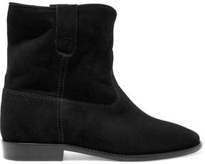 Etoile Isabel Marant Isabel Marant - étoile Crisi Suede Ankle Boots - Black