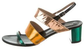 Dries Van Noten Metallic Slingback Sandals