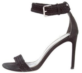 Maje Suede Ankle Strap Sandals