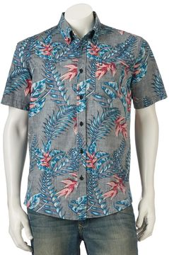 Ocean Current Men's Fantasy Button-Down Shirt