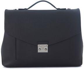 Furla Teseo Black Leather Briefcase