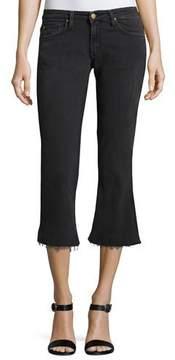 BA&SH Mike Raw-Hem Kick-Flare Jeans, Blackstone
