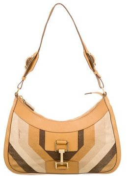 Gucci Leather Shoulder Bag - BROWN - STYLE
