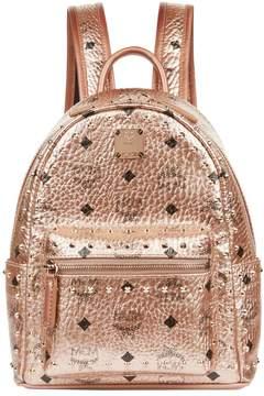 MCM Metallic Mini Stark Stud Backpack