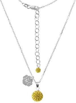 Ball Michigan Wolverines Crystal Sterling Silver Team Logo & Pendant Necklace