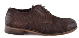 Daniele Alessandrini Men's Brown Suede Lace-up Shoes.