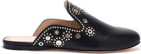 Rachel Zoe Grace Eyelet-Embellished Leather Slippers