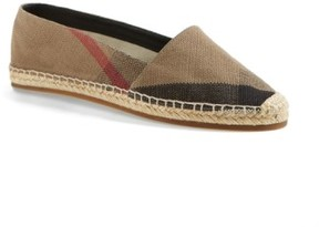 Burberry Women's Hodgeson Check Print Espadrille Flat