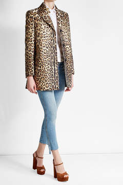 RED Valentino Leopard Print Coat
