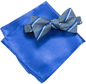 Alfani Blue Bow Tie & Pocket Square Set, Created for Macy's
