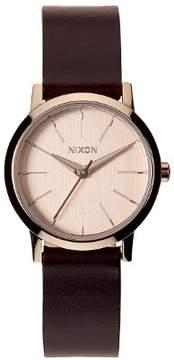 Nixon Watch Kenzi Leather Rose Gold/Brown A398-1890 Women's Watch