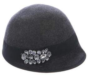 Saks Fifth Avenue Jewel-Embellished Wool Hat w/ Tags